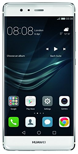 "Huawei P9 Smartphone, LTE, 5.2 ""FHD Display, 32 GB interner Speicher, 3 GB RAM, Kirin 955 Prozessor, 12 MP Kamera, Silber [EU West Version]"