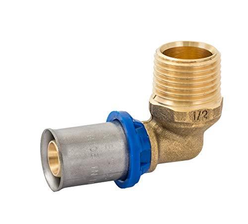 Press-Übergangswinkel  <strong>Einsatzbereich</strong>   Trinkwasserinstallation, Sanitär- und Heizungsinstallationen, Druckluftleitung, Brauchwasserinstallation, Regenwassernutzungsanlagen