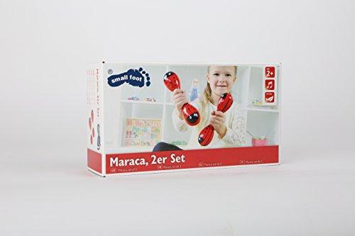 Maraca mit Marienkäfermotiv, 2er Set