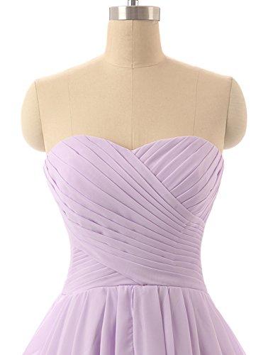 HUINI Hochzeitskleid Damen Chiffon Brautjungfernkleid Kurz Partykleid Ballkleid Abendkleid Abschlussball Kleid Erröte