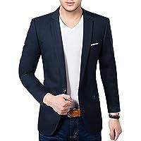 BREGEO Men's Slim Fit Single Breasted Blazer