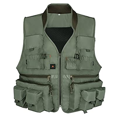 Goture Men Outdoor Multipocket Fishing Vest Breathable Mesh Waistcoat For Fly Fishing Camping Traveling Photography from Goture
