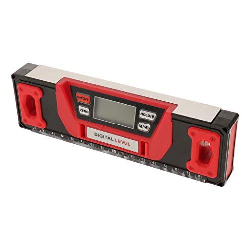 Magnetischer Wasserwaage mit Digital LCD Display für Winkel Neigung und Horizontaler Winkel Messen - 200 mm