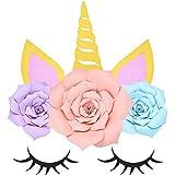 YANGTE Yangtze Unicorn Party Supplies - Decoración de Pared Flor de Papel Telón de Fondo, DIY Flor de Unicornio Telón para niñas Fiesta de cumpleaños Fiesta de Bienvenida al bebé