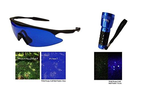 POSMA sgg-060C Golfball-Finder/Taschenlampe und UV-Licht-Set, Tag und Nacht, mit