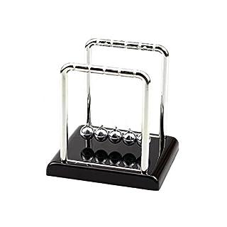 AIU Kugelspiel Klassisches Newton Kugelstoßpendel (schwarz)