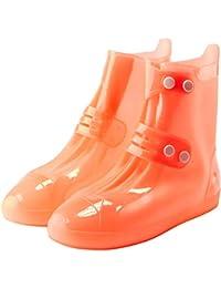 Zilee Niños Cubrezapatillas Impermeable Botas de Agua - Niñas Cubiertas de Zapatos Antideslizante Lluvia Botas Reutilizables Calzado Fundas de Lluvia para Zapatos