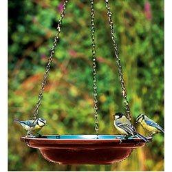 Hanging Ceramic Bird Bath With Chains