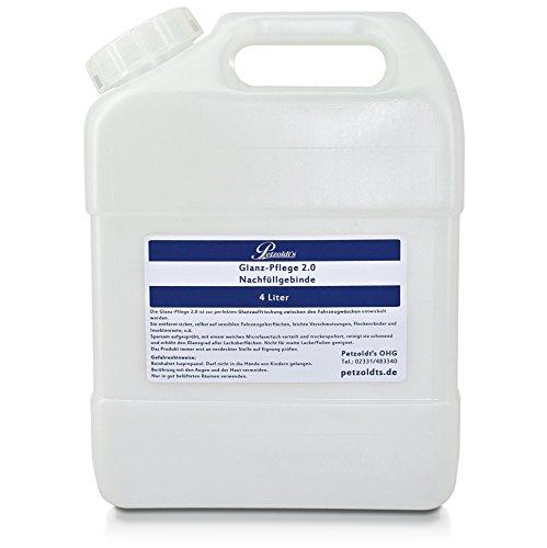 Petzoldt's 4 Liter Kanister Glanz-Pflege - Fahrzeugpflege Trockenwäsche und Detailer für Lack, Alu- oder Chromflächen, Glasscheiben, UVM. -