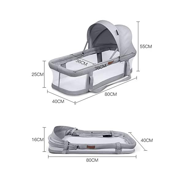 TINGYIN Portable Cot Multifunctional Removable and washable uterine bionic bed, Breathable mesh 100% cotton Baby Nest Bed, For bedroom and travel - Gray TINGYIN ★Adjustable Design: Suitable for 0-15Month. Comes with bag, Great baby shower gift. GROWS WITH YOUR BABY. Being adjustable, the side sleeper grows with your baby. Simply loosen the cord at the end of the bumpers to make the size larger. The ends of the bumpers can be fully opened. ★HEALTH & COMFY: hypoallergenic materials, breathable and non-toxic. We use 100-percent cotton fabric and breathable, hypoallergenic internal filler, which is safe for baby's sensitive skin. It will give your child serene, safe, and sound sleep in their lovely co sleeping crib. ★MULTIFUNCTIONAL AND PORTABLE. Use the infant nest as a bassinet for a bed, baby lounger pillow, travel bed, newborn pillow, changing station or move it around the house for lounging or tummy time, making baby feel more secure and cozy. The lightweight design and easy-to-use package with handle make our newborn nest a portable baby must-have. 2