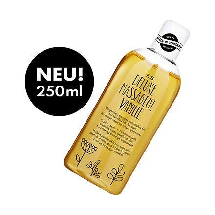 Deluxe Massageöl von EIS, Erotisches Massage Öl, Vanille Aroma, 250 ml (Für Sex Massage)