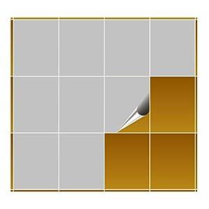 FoLIESEN Fliesenaufkleber 20x25 cm - Fliesen-Folie Bad - Klebefolie Küche - hellgrau matt - 30 Klebefliesen
