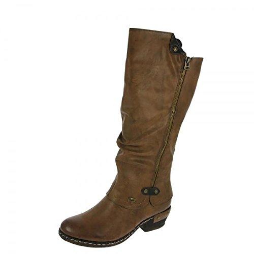 Rieker Sierra Damen Lange Stiefel 36 EU Tan -