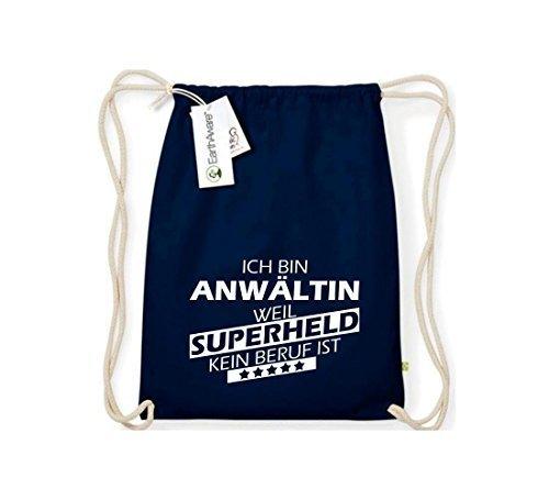 Shirtstown Organico Gymsac Sono Avvocato, perché Super eroe niente Occupazione è - Grigio Chiaro, One Size blu