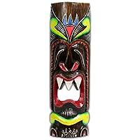 Maschera decorativa da parete, Hawaii, legno, motivo: Isola di Pasqua Kauai Maui, 50cm Bunt16 - Tiki Bar Della Decorazione Della Parete