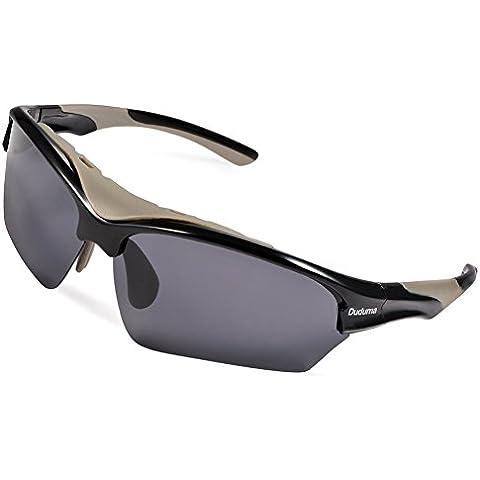 Duduma Gafas de Sol Deportivas Polarizadas Para Esquiar Golf Correr Ciclismo TR628 Súper Liviana Para Hombre y Para Mujer
