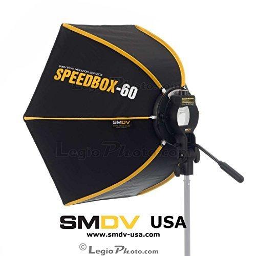 SMDV DIFF60speedbox-s60–Professionelle 24(60cm) starr Schnell faltbar Sechskant Softbox für Speedlight Speedlite Flash