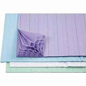 Feuilles de papier alvéolé pastel, idéales pour les loisirs créatifs et la création de décorations - Loisirs créatifs pour enfants et adultes (Lot de 8)