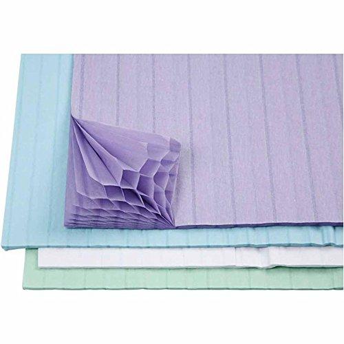 Harmonika Papier, Blatt 28x17,8 cm, hellblau, grün, weiß, lila, 8sort. Blatt