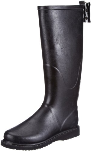 Ilse Jacobsen Hoher RUB31, Stivali di gomma donna, Nero (Schwarz (Schwarz Schwarz 0101)), 41