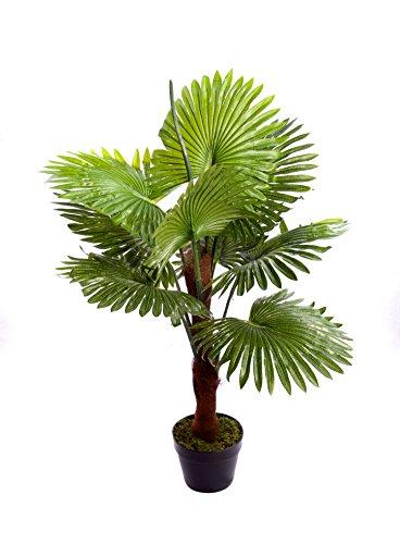 Best Artificial Künstliche Palme, 90cm, für den Innen- und Außenbereich, tropisch