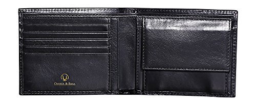41HoI52Td4L - Cronus & Rhea® | Luxury wallet with coin pocket made of exclusive leather (Plutus) | Wallet - Money Clip | Real leather | With elegant gift box | Men