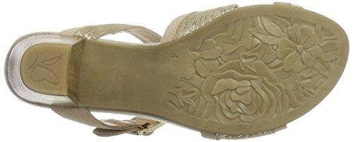 Caprice Damen 28208 Offene Sandalen mit Keilabsatz Beige (BEIGE COMB)