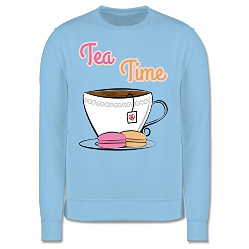 Küche - Tea Time - Herren Premium Pullover Hellblau