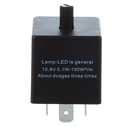 07cfff8ee7f SODIAL (R) Flasher 3 pines intermitente del rele de indicadores LED ELB  TIPO 12.8