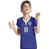 Griechenland Damen T-Shirt Schwarz Trikot Team Nr ALL 10 Fußball Sport WM 2018
