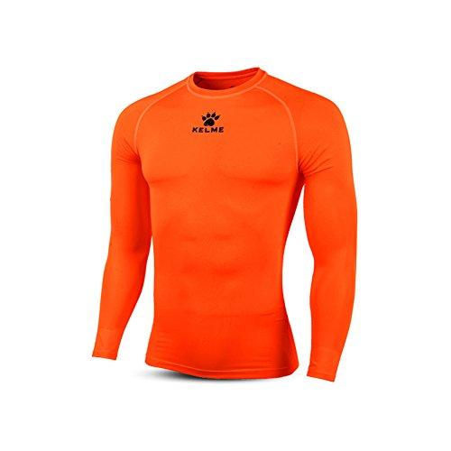 KELME Adult Thermical L/S Tshirt Camiseta Térmica, Hombre, Neon Orange Black, S
