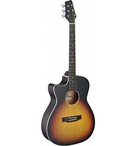 Stagg SA35ace-vs LH–Guitarra electroacústica zurdos Sunburst