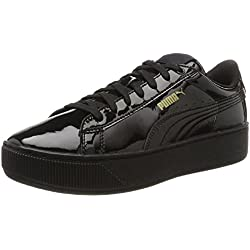Puma Damen Vikky Platform Patent Sneaker, Schwarz (Black-Black), 39 EU (6 UK)