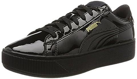 Puma Vikky Platform Patent, Sneakers Basses Femme- Noir (Black-black), 38 EU (5 UK)