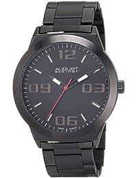 August Steiner AS8134BK - Reloj de cuarzo para hombres, color negro