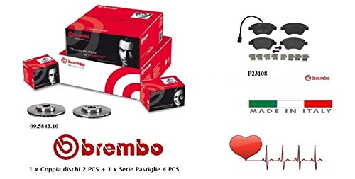 Dischi + Pastiglie Freno Anteriori Brembo