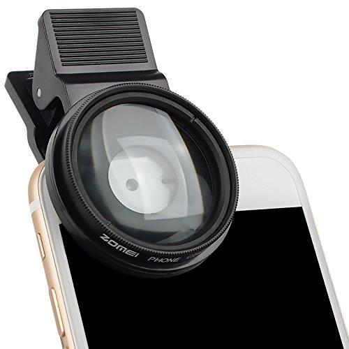 Zomei professionelle handy filter 37mm 12.5x schließen makro - objektiv mit 37mm clip filter für iphone samsung android am smartphone