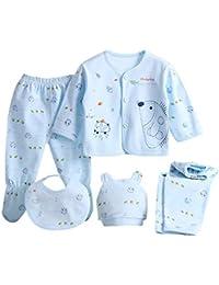 HCFKJ Ropa Bebe NiñA Invierno NiñO Manga Larga Camisetas Beb Conjuntos Moda  5PCS Bebé ReciéN Nacido 67776ea407ba