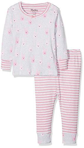 Hatley Mädchen Organic Cotton Baby Pyjama Sets Zweiteiliger Schlafanzug, Violett (Funny Bunnies), 12-18 Monate
