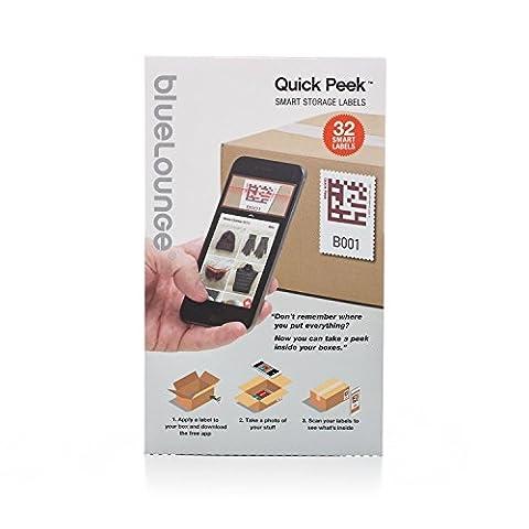 [Quickpeek] Smart Storage Autocollant / Adhésif Etiquettes Pour Déplacer Boîtes