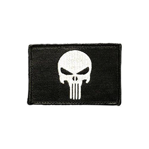 Punisher Totenkopf Tactical Patch von Moral Patch Arsenal | Premium bestickt die Hero Insignia | zu USA Military Gear, hat, GAP, Tasche, Rucksack | verstärkter Haken Rückseite | 5,1x 7,6cm
