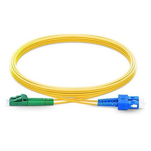 Sc Duplex-single (LWL-Kabel LC/APC auf SC Single Mode Duplex 2,0 mm / 3,0 mm Außendurchmesser 9/125 Glasfaserkabel 1m 3.0mm)