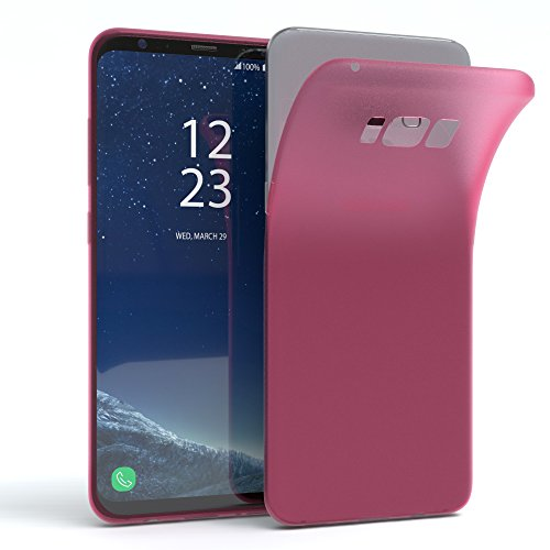 "EAZY CASE Handyhülle für Samsung Galaxy S8 Plus Hülle - Premium Handy Schutzhülle Slimcover ""Brushed"" Aluminium Design - TPU Silikon Backcover in brushed Lila Matt Pink"