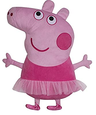 Character world Peppa Pig Ballerina Embroidered Shaped Cushion - low-cost UK light shop.