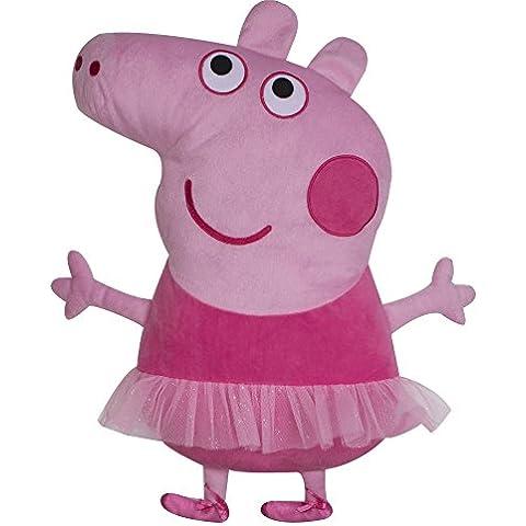 Character World - Cuscino ricamato, a forma di Peppa Pig ballerina