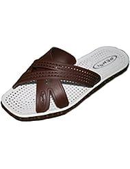 fankou Moda estate bianco e nero pantofole scarpe da spiaggia che uomini sandali antiscivolo fondo morbido trascinare e svago estivo marea,43,a-