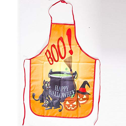Peanutaso Creativo Delantal Halloween Anti-Aceite