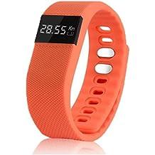 TW64 SmartBand Smart Pulsera Pulsera Fitness Tracker Sport Bluetooth Smart Watch SmartWatch salud pedometro para Android, iOS () naranja