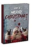 "HO HO HO - REDUZIERT -Adventskalender ""Santa Claus"" Vorgestalteter Adventskalender zum Befüllen"