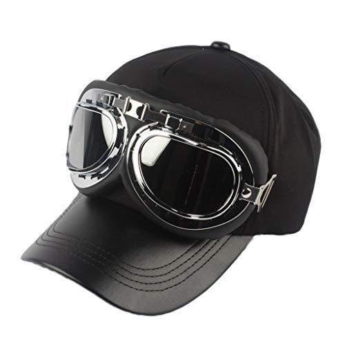 LABIUO Unisex Sonnenbrille Vintage-Stil Pilot Brille Baseball Mütze Hip Hop Sport Snowboard Sportmütze(B,Freie Größe)